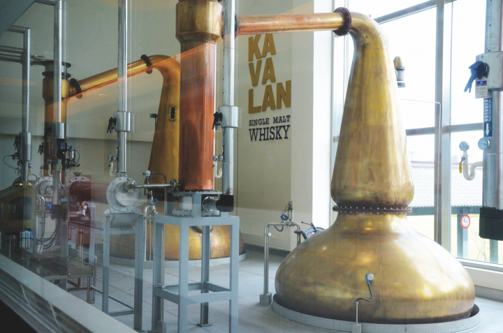 Imported by Hotaling & Co., Kavalan single malt (stills pictured) has put Taiwan on the map as a whisky-producing nation. Hotaling imports whiskies from Japan and New Zealand as well.
