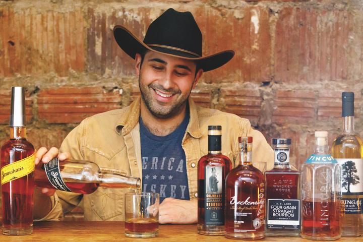 Colorado spirits are gaining ground nationwide. At American Whiskey in New York, managing partner Kevin Hooshnagi (pictured) says Colorado-made spirits are some of the restaurant's most requested.