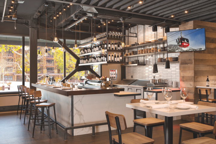 Gavin Fine was inspired to begin his culinary career after enjoying wine and tapas while studying in Spain. Opened in late 2017 in Hotel Terra, Bar Enoteca (interior pictured) draws on that experience.