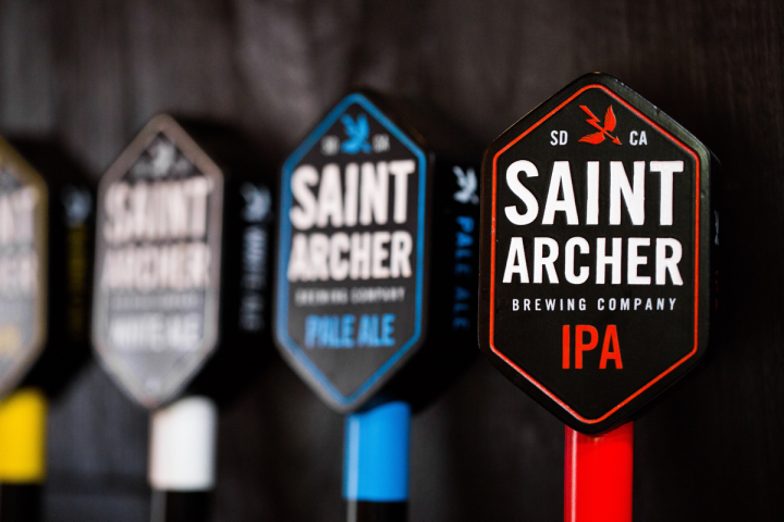 San Diego's Saint Archer Brewing Co. (tap handles pictured) joined the Tenth and Blake fold in 2016.