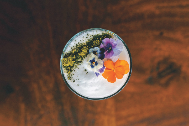At Komodo in Miami, the Sake Your Eda'Mame' blends a base of Enter Black Dot sake and Stoli Elit vodka, which is then mixed with fresh lemon and lime juices, simple syrup, puréed edamame and Musashino nigori sake, and shiso.