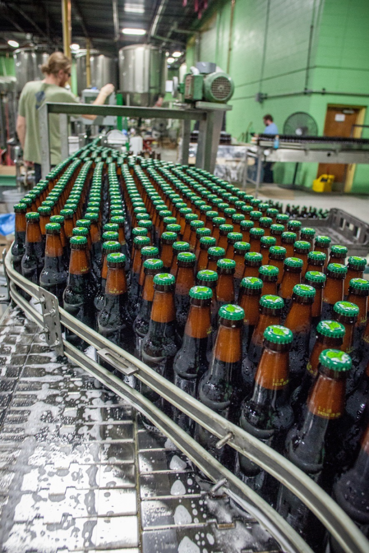 Terrapin Beer Co. (bottling line pictured) is Tenth and Blake's most widely distributed craft label.