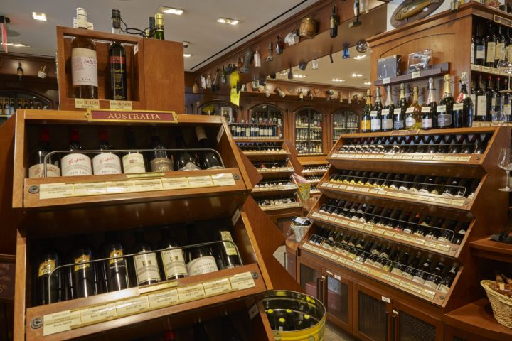 While Bordeaux and Champagne are still highly important to Sherry-Lehmann (wine displays above), Adams is also focusing on other wines, including options from Australia, New York, Oregon, and Washington, in order to stay in touch with all segments of the market.