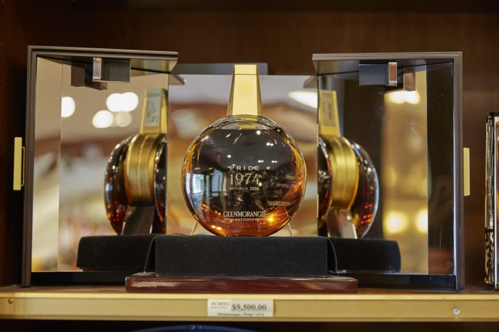Sherry-Lehmann's founder Jack Aaron was a spirits specialist (Glenmorangie 1974 Pride bottle pictured).