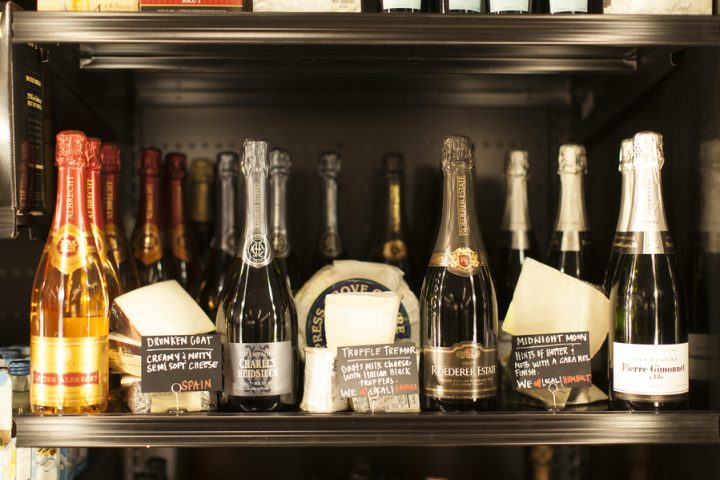 Raley's wine displays are evolving from branded displays to varietal executions, and the chain is cross-merchandising wine outside of beverage departments as well (wine and cheese display pictured).