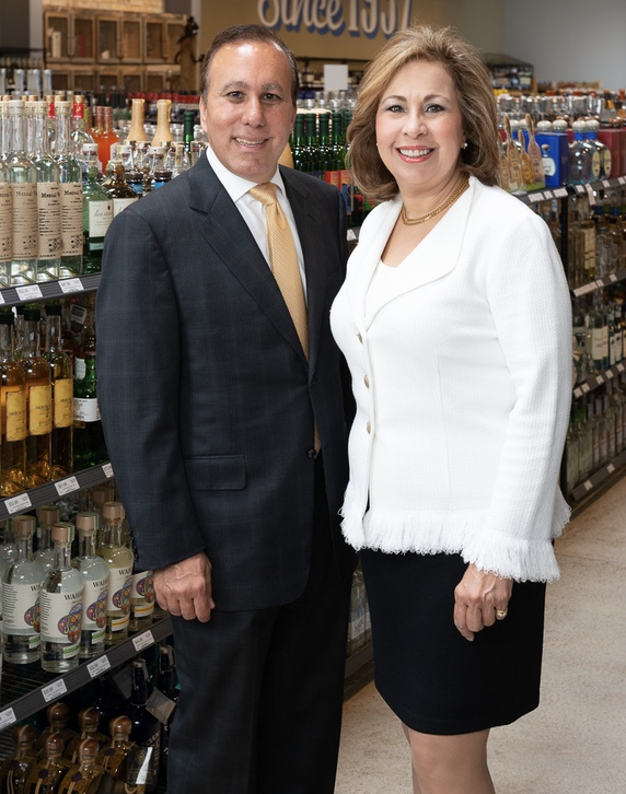 Third-generation owners David and Margaret Jabour maintain almost 100 Twin Liquors locations throughout Texas.