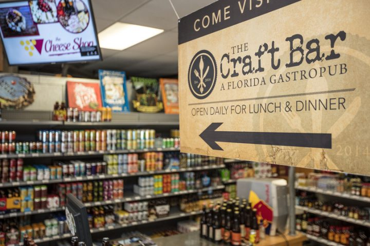 The duo's next plans include a Wine World, Wine Bar, and Craft Bar (Destin Craft Bar sign pictured) in Pensacola.
