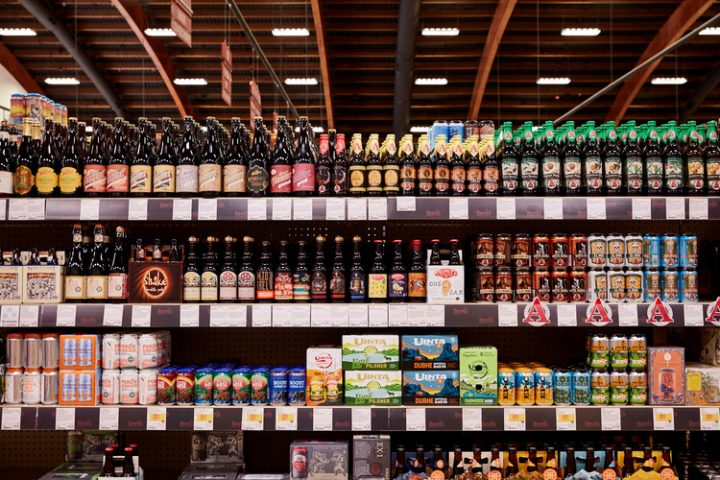 Binny's selection is constantly changing (beer shelves pictured). Pontoni frequently travels, touches base with consumers, and tastes new spirits labels in order to best meet his customers' needs.