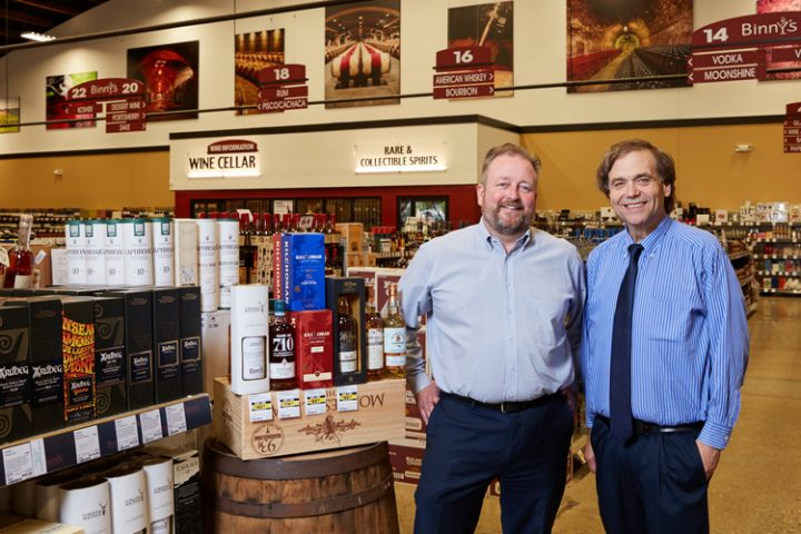 Binny's owner Michael Binstein (pictured right with Pontoni) hails Pontoni as one of the most consequential hires in the store's history.