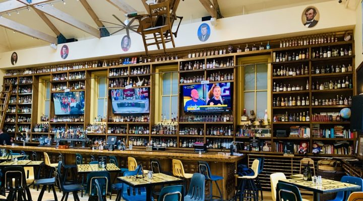 At Denver's School House Kitchen & Libations (bar pictured), some 90 Canadian whiskies are offered. The bar focuses on small-batch brands, such as Still Waters Distillery's Stalk & Barrel.