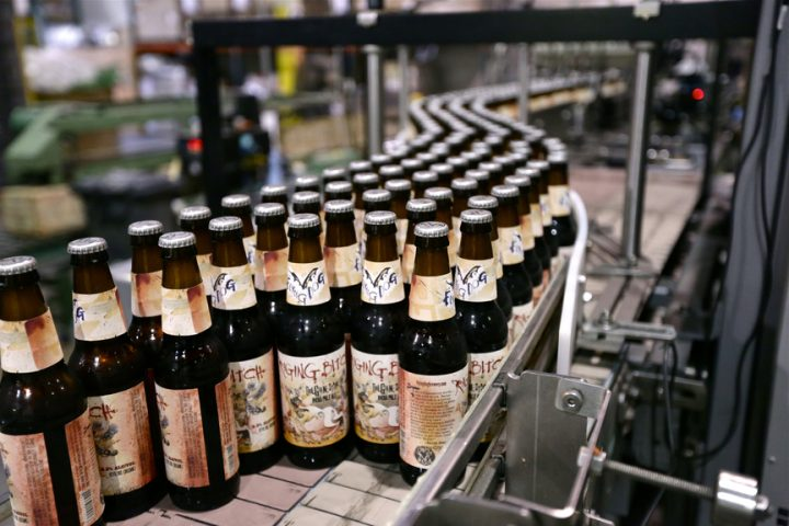 Flying Dog brewery (bottling line pictured) is known in part for its controversial brand names, including its flagship Raging Bitch IPA and Doggie Style pale ale.