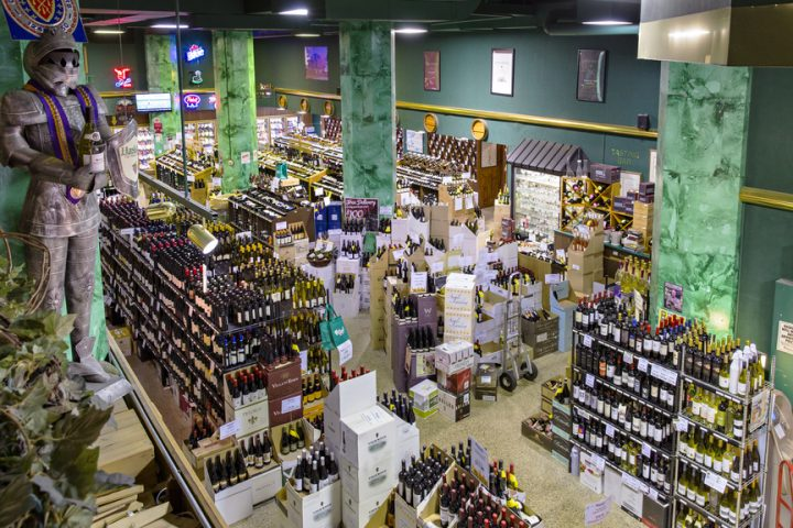 Holiday items are some of the most popular offerings each year at beverage alcohol stores like Haskell's Wine and Spirits in Minneapolis (interior pictured).
