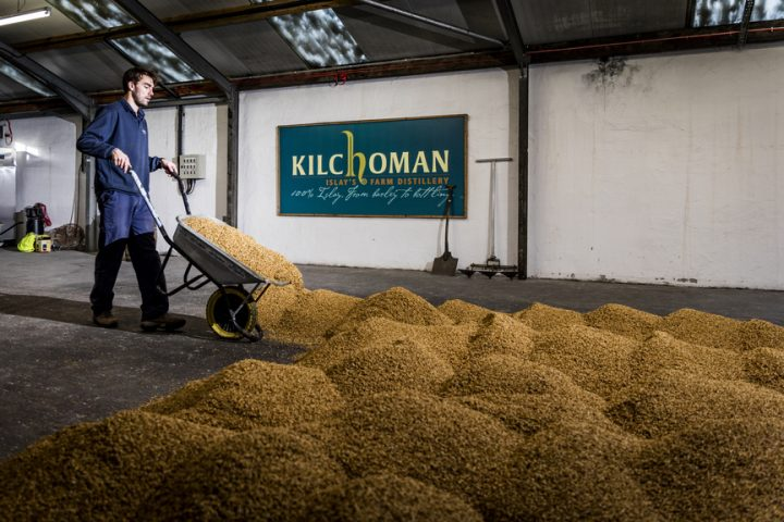 As a farm distillery, Kilchoman grows and malts its barley on site. The brand, which touts its status as Islay's only independent whisky label, recently released two new limited-edition whiskies.