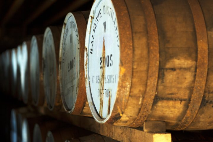 The Balvenie (casks pictured) highlights its heritage and traditions for new consumers by using barley that is grown and malted at its distillery.