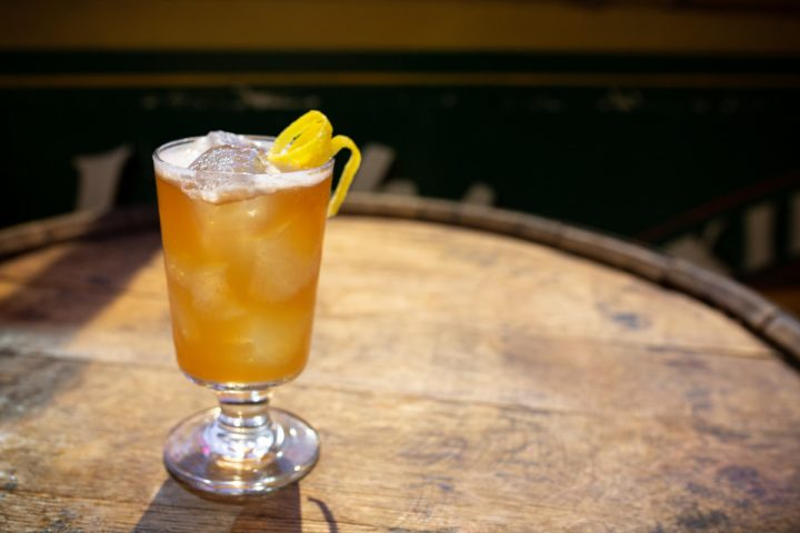 These days, Ehrmann prefers simple cocktails that highlight the character of the base spirit, such as the Bourbon-based Kentucky Pilgrim (pictured).