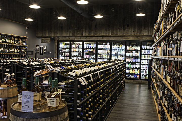Wine & Spirits at Roxbury Station (interior pictured), which opened in Roxbury, Connecticut in March, offers customers a range of local wine, spirits, and beer, along with mainstream brands.