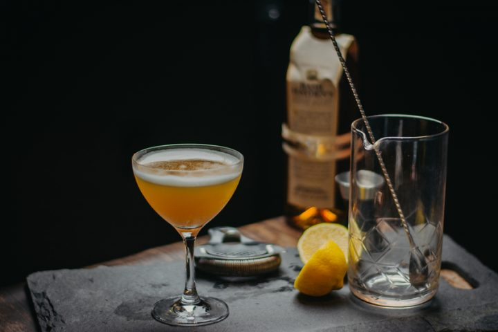 Washington, D.C.'s Urbana relies on the herbaceous qualities of Italian spirits to balance cocktails with Bourbon, gin, or sparkling wine. The Hive Mind (pictured) blends Don Ciccio & Figi Limoncello liqueur with Basil Hayden's Bourbon, lemon, honey, cayenne, and bitters.
