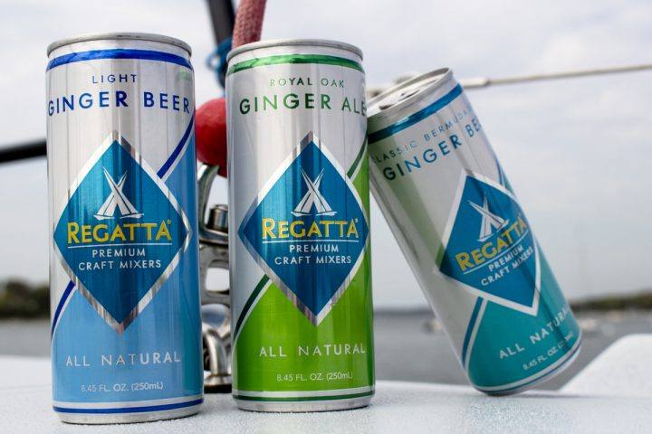 Up-and-coming premium mixers brands include Regatta (cans above), which is cementing itself as an on-premise favorite.