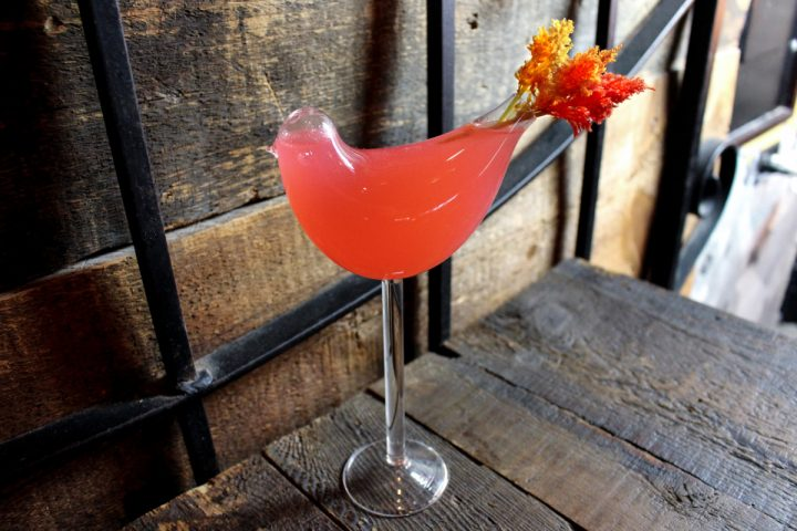 The Firebird (above) from Chicago venue Machine: Engineered Dining & Drink blends Hangar 1 Rosé, fresh lemon juice, strawberry purée, and agave nectar.