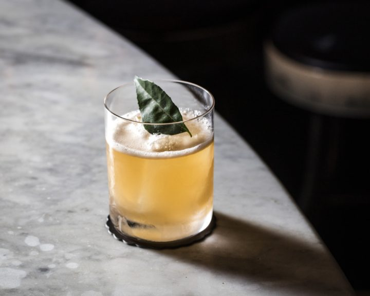 Death & Co. often uses multiple base spirits in cocktails like the Planet Caravan (pictured), which blends Scotch and batavia arrack.