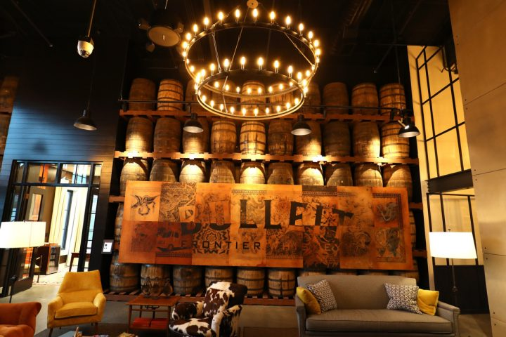 Diageo recently unveiled a visitor center for Bulleit (above) in Shelbyville, Kentucky.