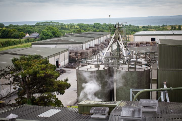 Almost all of Beam Suntory's Irish whiskey is produced at its Cooley distillery (exterior pictured) in County Lough,