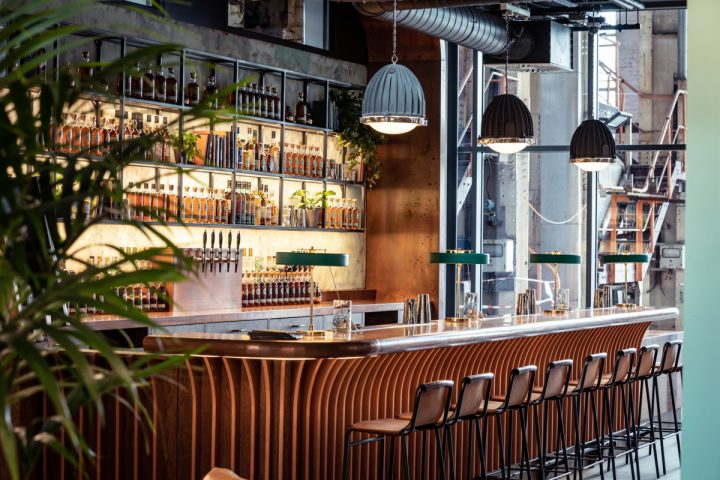 Diageo's new Roe & Co. distillery (bar pictured) is named for 19th-century Irish whiskey titan George Roe. It opened in June, and sits across the street from Guinness in Dublin, joining Teeling, Pearse Lyons, and Dublin Liberties in the city's whiskey revival.