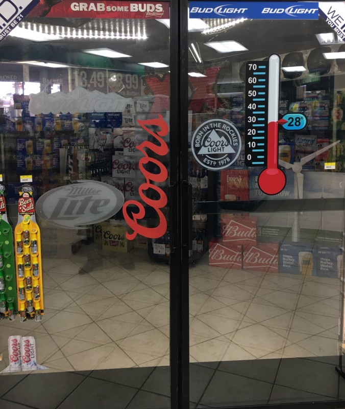 In total, about 70 Yesway stores (Sweetwater, Texas location's beer cave pictured) in Iowa, South Dakota, Wyoming, Kansas, and Missouri offer beer, wine, and spirits.