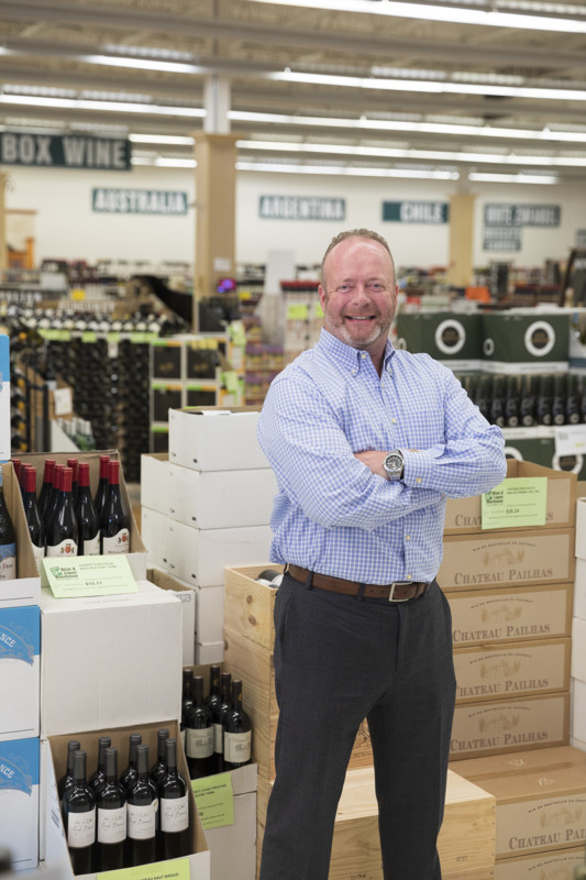 Owner of Exit 9 Wine & Liquor Warehouse Mark O'Callaghan (pictured), who founded the store in 2001, cites social media market- ing, radio segments, and customer service as key components to his business strategy.