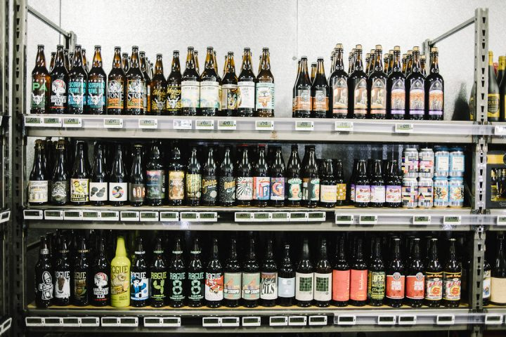Beer (craft shelves pictured) accounts for just under 30% of sales for Molly's.