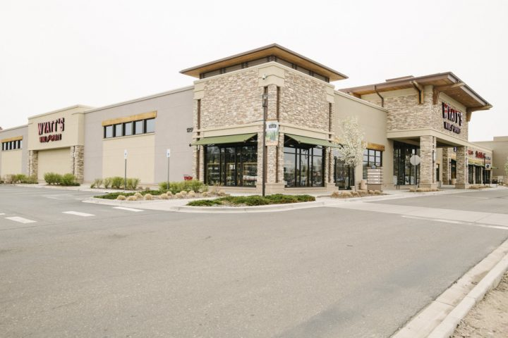 Wild West-themed store Wyatt's Wet Goods (exterior pictured) opened its doors in Longmont, Colorado four years ago. The 24,000-square-foot space offers more than 10,000 SKUs of wine, spirits, beer, food, and accessories, with the sales floor dominated by wine. (Photo by Matt Nager)