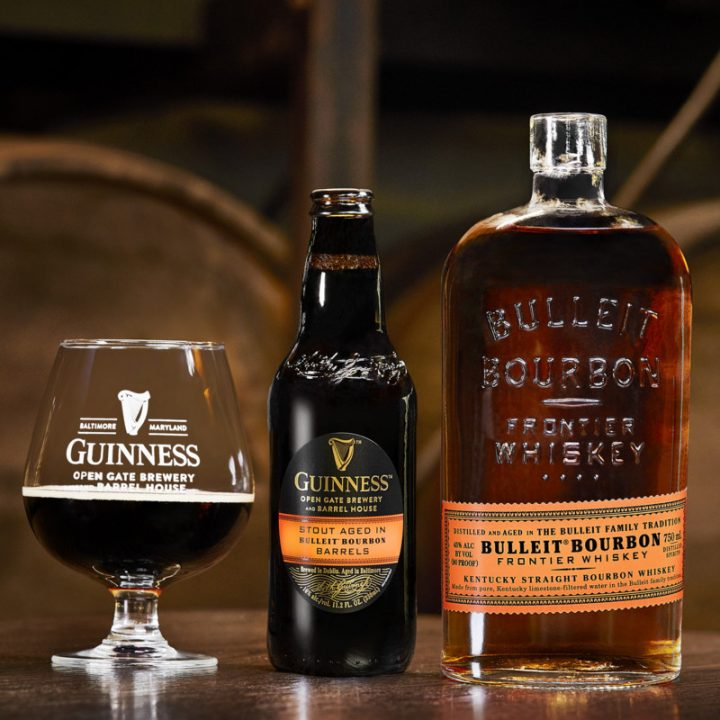 Beers aged in specific whiskey barrels, such as Diageo Beer Co.'s experimental Guinness Antwerpen stout aged in Bulleit Bourbon barrels (pictured), are emerging as a way to differentiate among a sea of barrel-aged options.