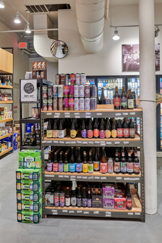 David Gordon notes that, given how experimental today's consumers are, no single beer label (Downtown Boston store craft display pictured) is a recurring top-seller.