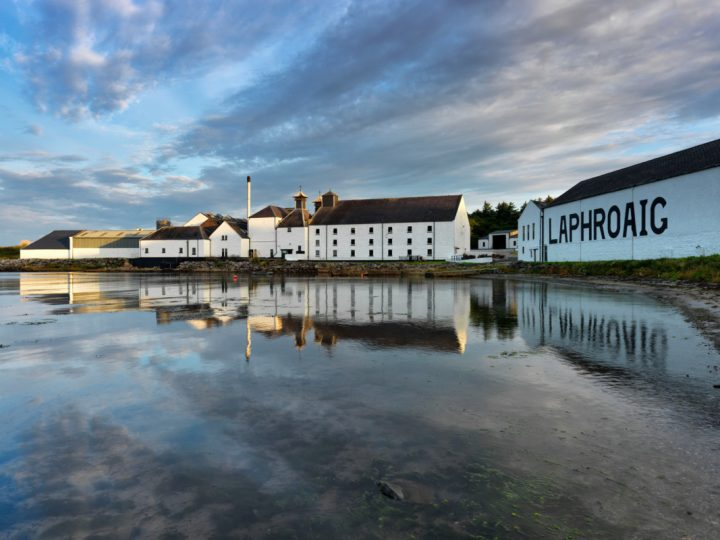 Laphroaig (distillery pictured) has leaned into cask-strength offerings as competition increases in single malt Scotch.