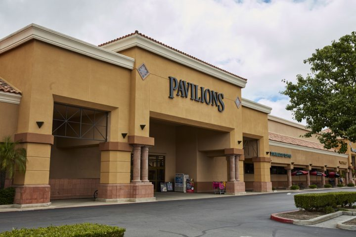 Vons, Albertsons, and Pavilions (exterior pictured) operate not just as grocery stores, but also as neighborhood-driven beverage alcohol retailers.