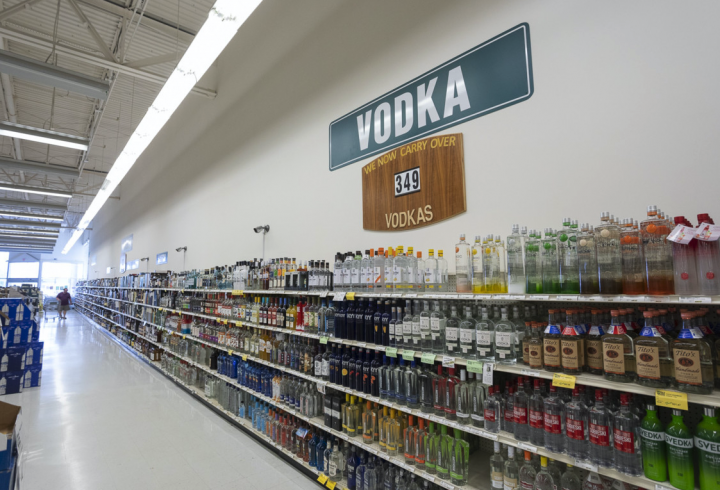Exit 9 (vodka section pictured) hosts at least two wine and spirits classes and seminars each month, and O'Callaghan has noticed more young people in attendance recently.