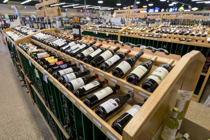 Haskell's has always focused on wine (aisles pictured), with the category comprising more than half of all sales for the business. According to Farrell, the store was among the first in the country to carry now-iconic brands such as Robert Mondavi and Caymus.