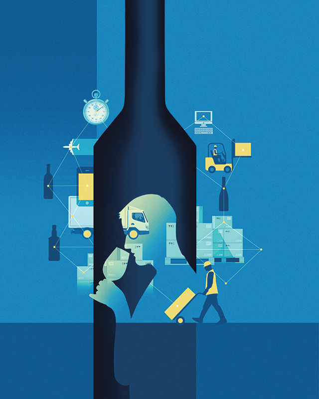 Southern Glazer's Wine & Spirits is in the midst of an e-commerce push totaling tens of millions of dollars in investments. (Illustration by Stuart Briers)