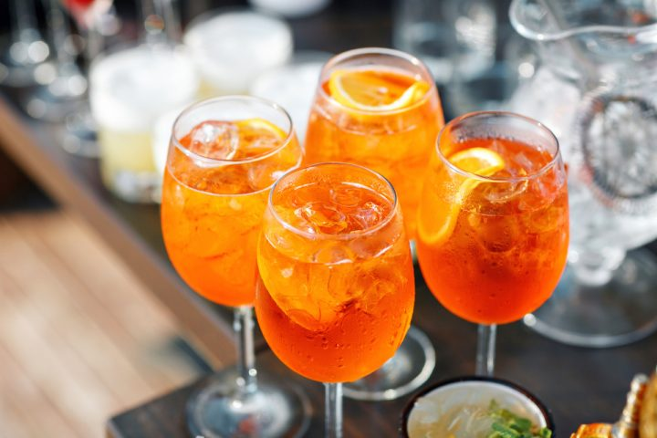 The Aperol Spritz (pictured), comprising Aperol aperitif, Prosecco, a splash of soda, and an orange slice, is currently having a moment, and its popularity has led to a notable rise in Aperol sales; the label skyrocketed by 60% last year to deplete 160,000 cases.