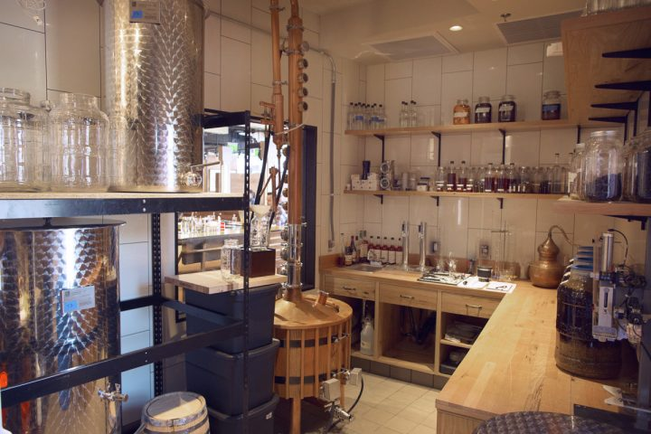Farmers Restaurant Group produces its own line of spirits at its Founding Spirits Distillery (pictured), a craft distillery located in the group's Farmers & Distillers restaurant. Founding Spirits' lineup includes vodka, gin, American whiskey, amaro, and rye whiskey.