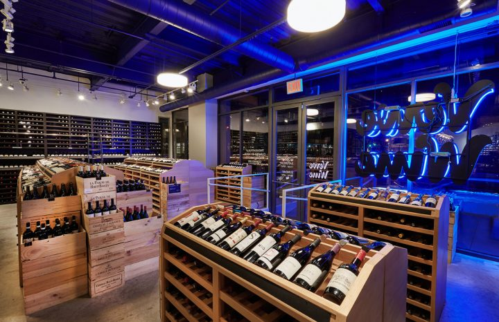 Verve's New York City unit (interior pictured) boasts a wall of Burgundy bottles accessible by a sliding ladder. Despite a 200 SKU Burgundy selection that rotates quickly, the store nearly always includes options from Domaine Jean-Marc Roulot and Domaine Marquis d'Angerville.