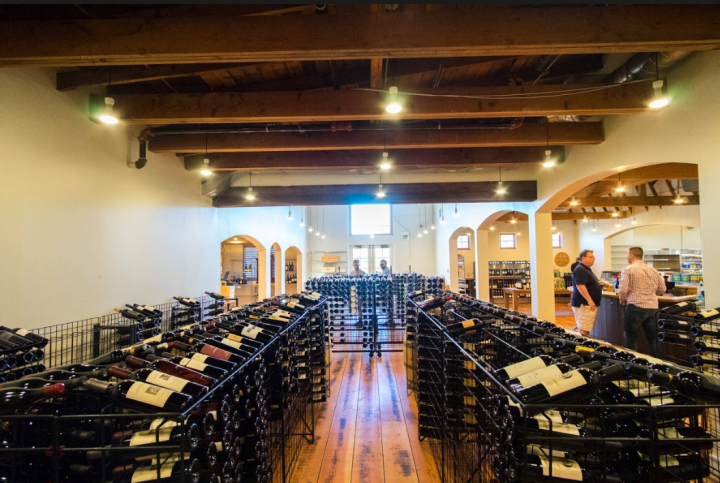Gary's new 10,800-square-foot Napa Valley store (interior pictured) offers 84 SKUs of fine wines, 400 SKUs of domestic wines, 300 SKUs of international wines, and 40 SKUs of Champagne and sparkling wines.