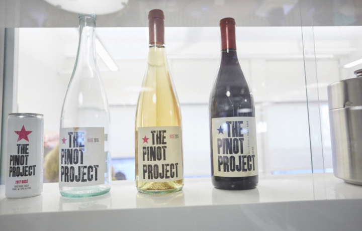 The company's proprietary label The Pinot Project (above left) is now its bestselling brand.