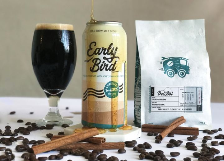 San Diego's Coronado Brewing debuted a cold-brew coffee beer, Early Bird Cold Brew milk stout (pictured), in 2017. Made with local brand Bird Rock Coffee Roasters, the stout is popular year-round.