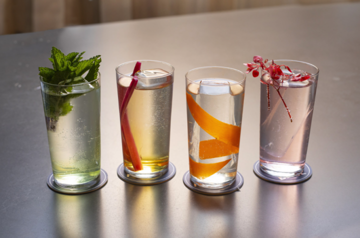 Momofuku Noodle Bar opened in Manhattan's Columbus Circle in 2018. Unlike its downtown counterpart in the East Village, the newer Noodle Bar has an advanced beverage program featuring Highballs on draft (pictured).