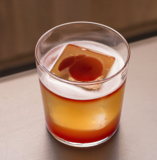 The New York Sour (pictured) is part of Momofuku Noodle Bar's advanced drinks program.