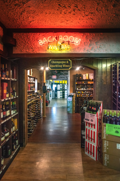Schaefer's (back room pictured) spans about 8,000 square feet, located on a prime 1.5-acre corner lot.