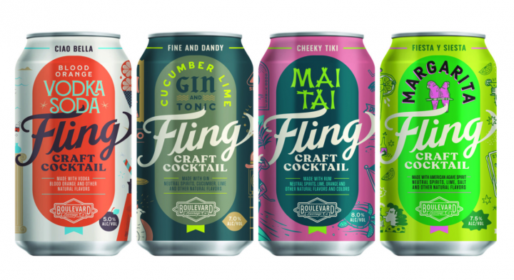 In 2019, Fling Craft Cocktails introduced a line of all-natural RTD cocktails (pictured) in an effort to appeal to health-conscious consumers.