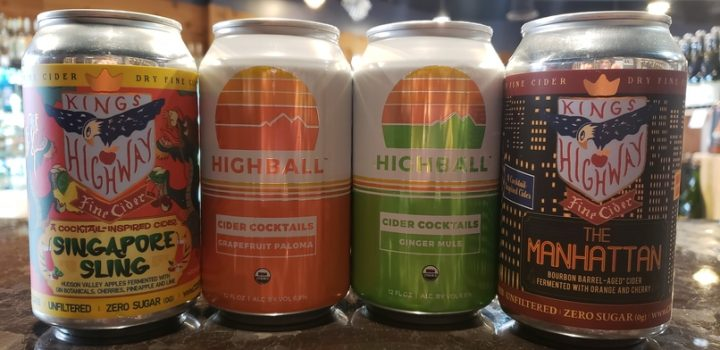 Some of the bestselling RTD cocktails at Boutique Wines, Spirits & Cider include cider-based offerings from Highball and King's Highway, which is made locally in Dutchess County.