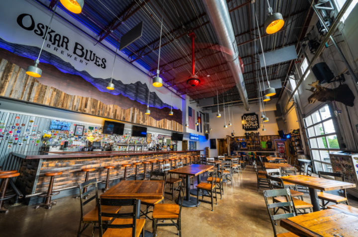 Canarchy Craft Brewery Collective, headquartered at Longmont, Colorado's Oskar Blues Brewery (taproom pictured), shipped an estimated 480,000 barrels in 2019, up 14% from the previous year.